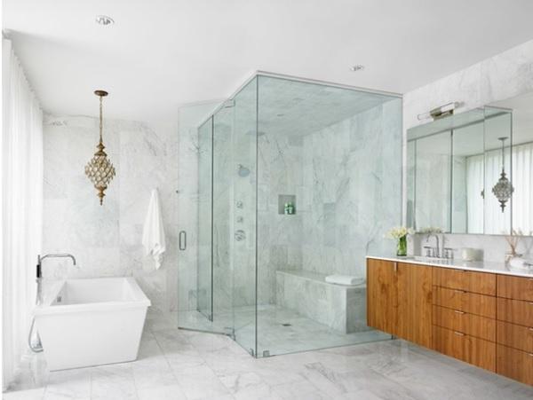 Cabin phòng tắm bằng vách kính cường lực