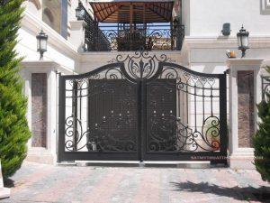 cửa sắt 1 cánh, 2 cánh sơn tĩnh điện