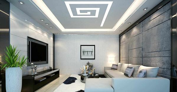 Trần bằng thạch cao được thiết kế theo phong cách hiện đại